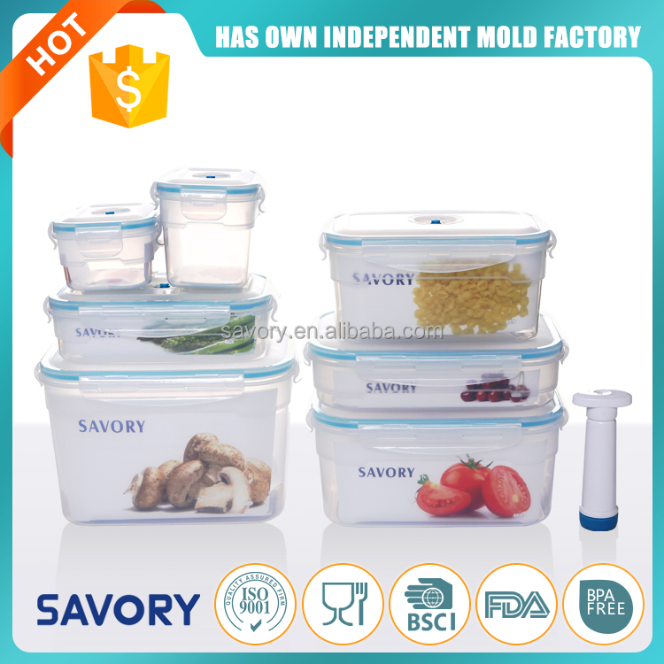 European eco custom size food storage plastic excellent houseware folding silicone lunch box