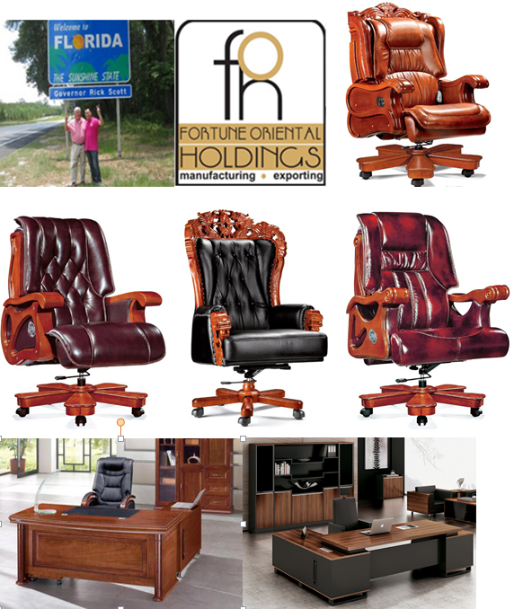 High End Leather Retro Ceo Executive Bureaustoel, Chesterfield Bureaustoel Met Houten Base ( FOH-A58)