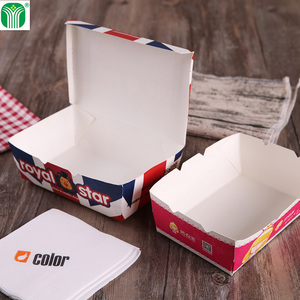 custom logo printed paper take away food boxes and cup