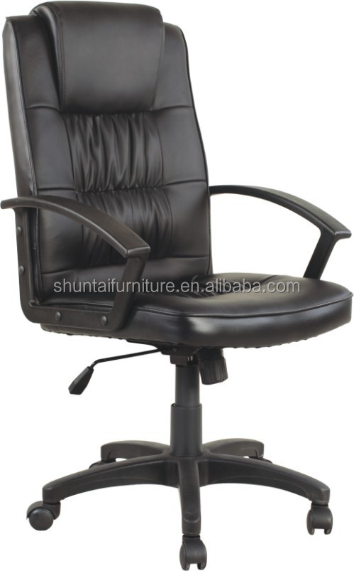 White Pink Baking Varnish Pu Leather Executive Office Chair ...