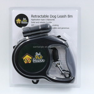 Customized 110lbs Pet Supplies ABS 8M Retractable Dog Leash With Light