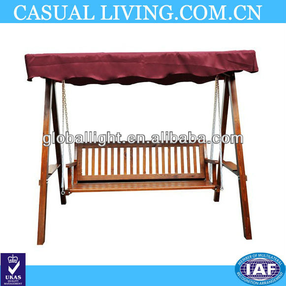 Hammock 3 seater garden swing bench swing wooden swing