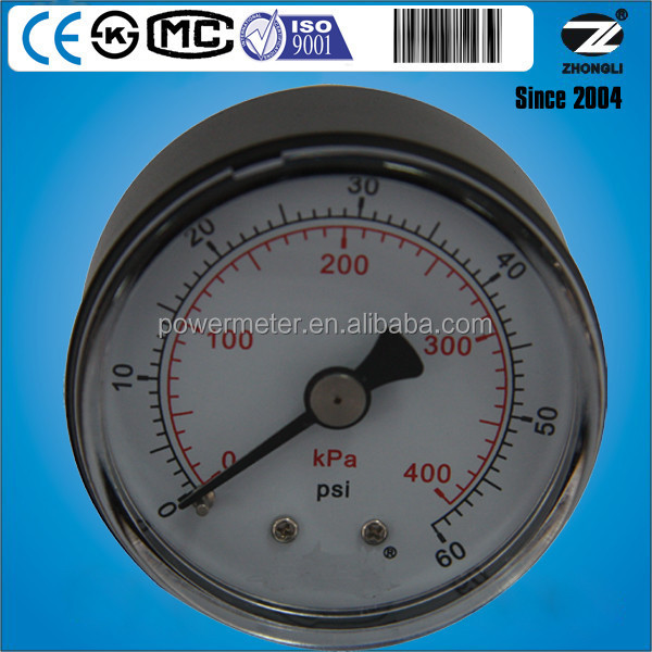 (Y-40Z) 40mm ABS plastic case for natural gas dual axail pressure gauge