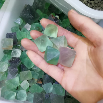 Wholesale  Fluorite Octahedron Rough Crystal Tumble Stone