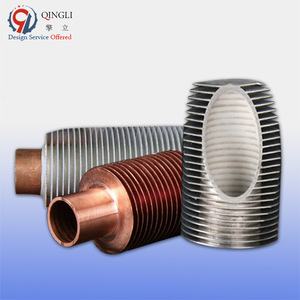 aluminum fin rolled copper exchanger heat finned tube