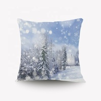 Merry Christmas Series Reindeer Tree Luxury Soft Fuzzy Cozy Warm Slik Decorative Gift Square Couch Cushion Pillow Case 20 x 20 I