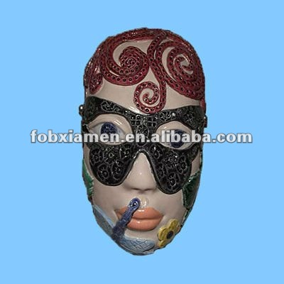 Party supply unique ceramic face mask