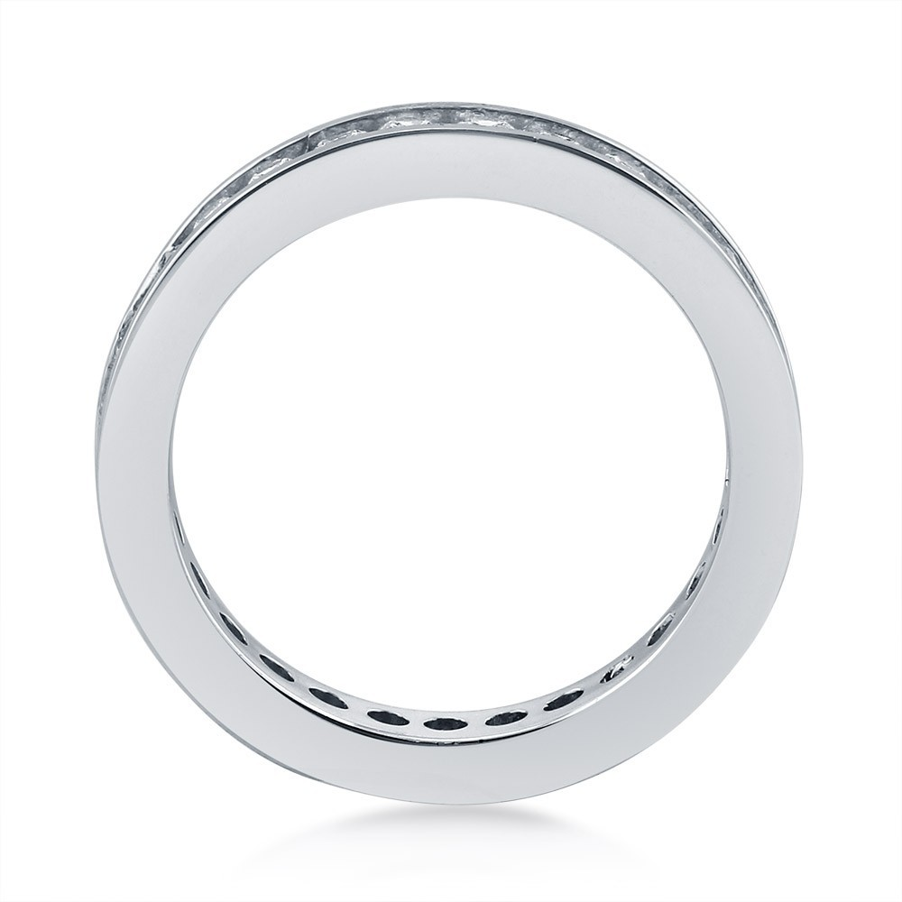 925 Sterling Silver Eternity Ring amazon with Channel CZ R500397