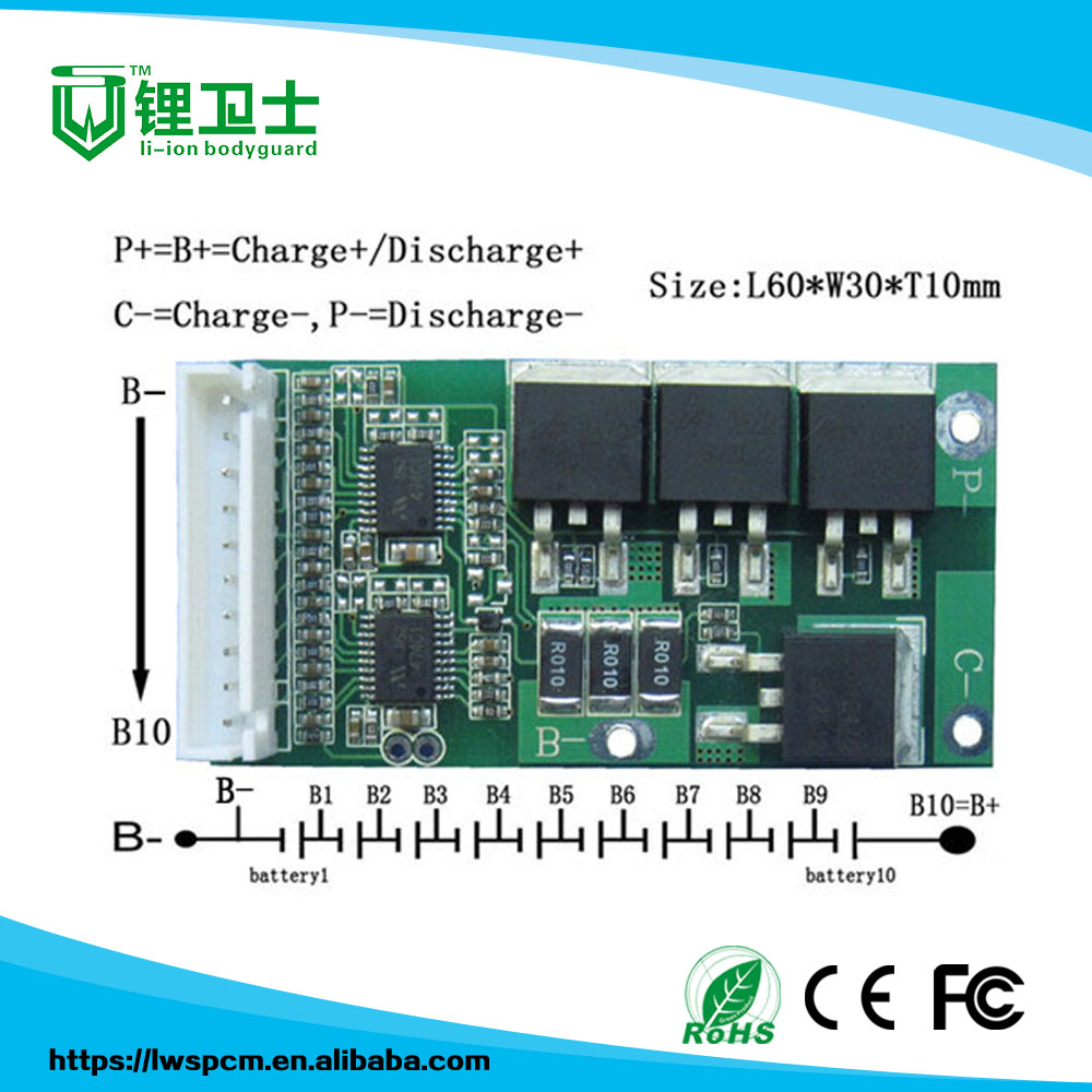 China Battery 36v Pcb Wholesale Alibaba Circuit Diagram With Auto Cut Off Ebike Lifepo4 Lithium Ion 8a