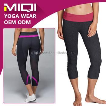 Spandex Custom Yoga Girls Capri Pants/ Sexy Girls Gym Pants ...