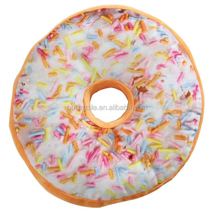 Round shape Donut pillow soft Velvet cushion