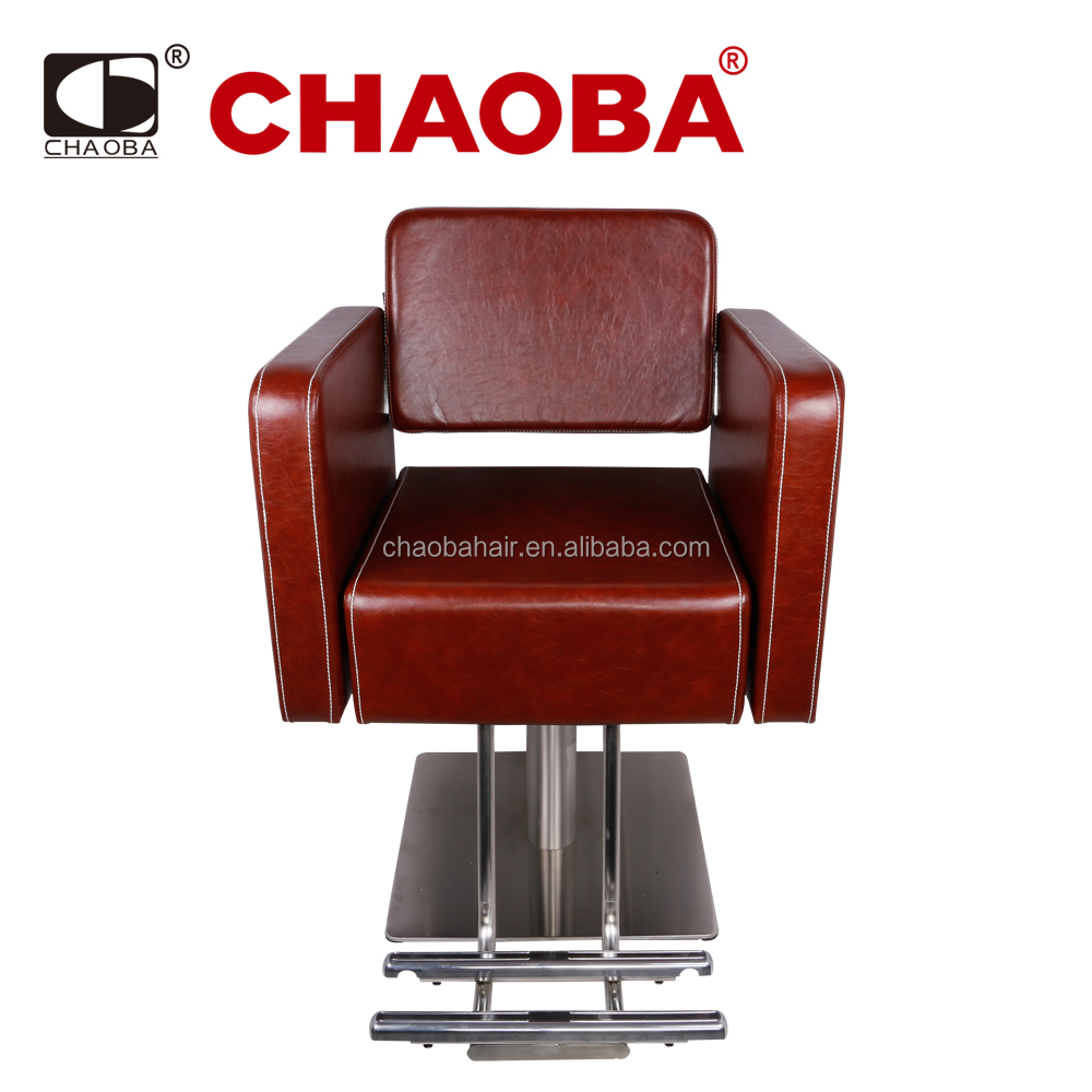 Barber Chair/ PU Salon Furniture / Footrest /Square Base Styling Chairs For Adult