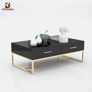 African type nice design 5 mm toughened glass table L shape diamond coffee table