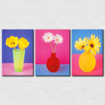Simple Design Flower Canvas Painting Wall Hangings Decoration Home