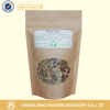 spice paper bag with zipper/ paper tea bag/paper bag with window and reclosable ziplock