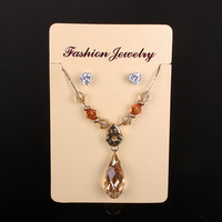 Custom Necklace earring display Cards paper necklace holder