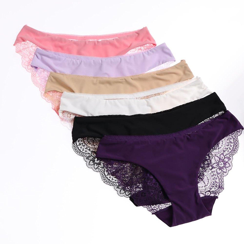 17c9787be14 Buy UWOCEKA Pack of 4 Women Underwear Lace Thong Sexy Plus Size ...