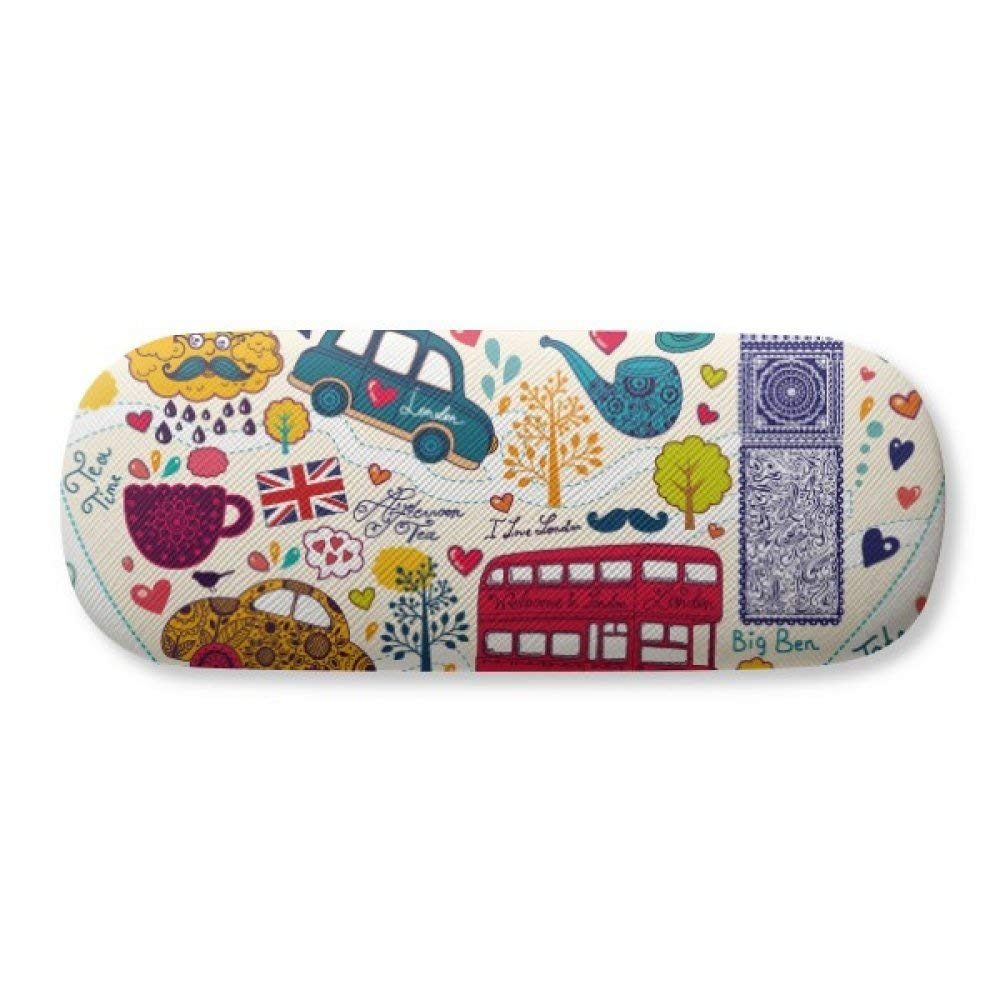 Cool Confident Yellow Cute Online Emoji Glasses Case Eyeglasses Clam Shell Holder Storage Box