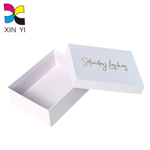 Custom Design Wholesale Plain White Cardboard Mini Hat Boxes with Lid