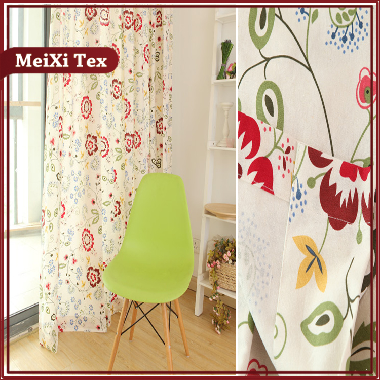 Fireretardant faux silk japanese cherry blossom flowers didital print curtain fabric