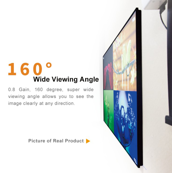 """กรอบบางพิเศษ 100 """"หน้าจอฉายภาพคงที่หน้าจอ Alr สำหรับ Xiaomi Wemax Laser Projector"""