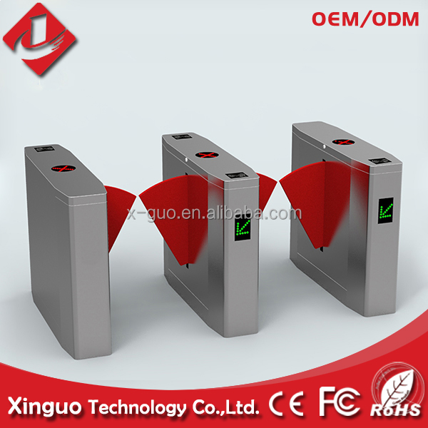 biometric access control Fast Speed Gate / retractable swing flap barrier gate system