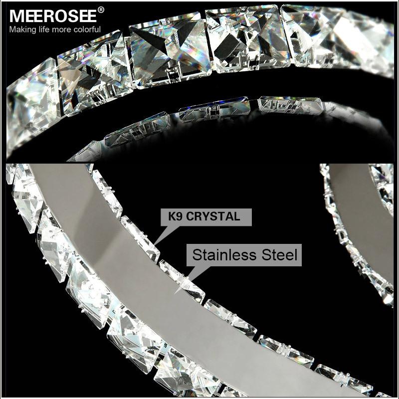 Diameter 600mm+400mm,2 Diamond Ring Hanging Circle Led Crystal ...