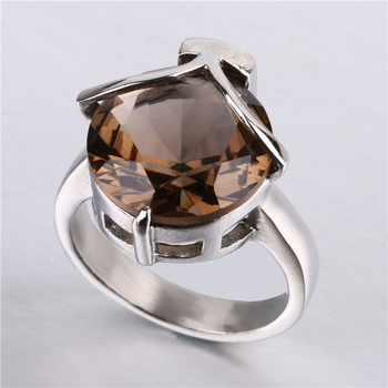 Stainless steel jewelry wholesale rings Electroplate gold gemstone ring beautiful pattern wedding rings