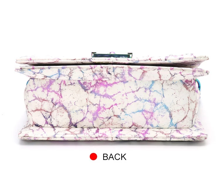 Fashion pu leather marble clutch purses purple designers woman handbag ladies hand bag lady purse luxury bags women handbags