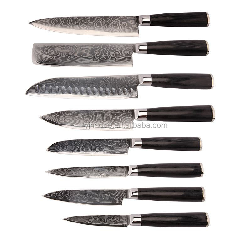 top quality VG10 damascus kitchen knife with 67 layer blade knife