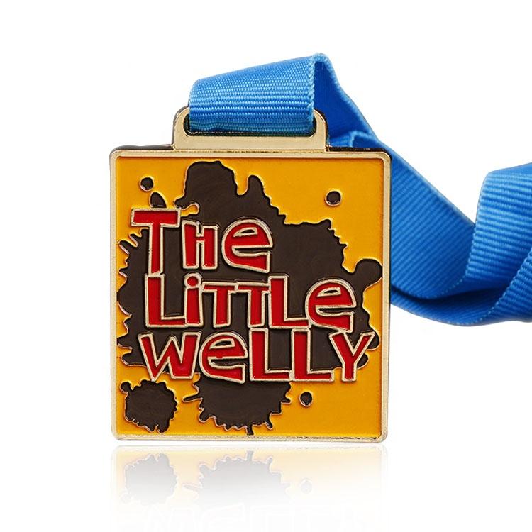 Personalizado De Metal Ouro Corredor Da Maratona Atribuição da Medalha de Esportes Em Branco com Fita