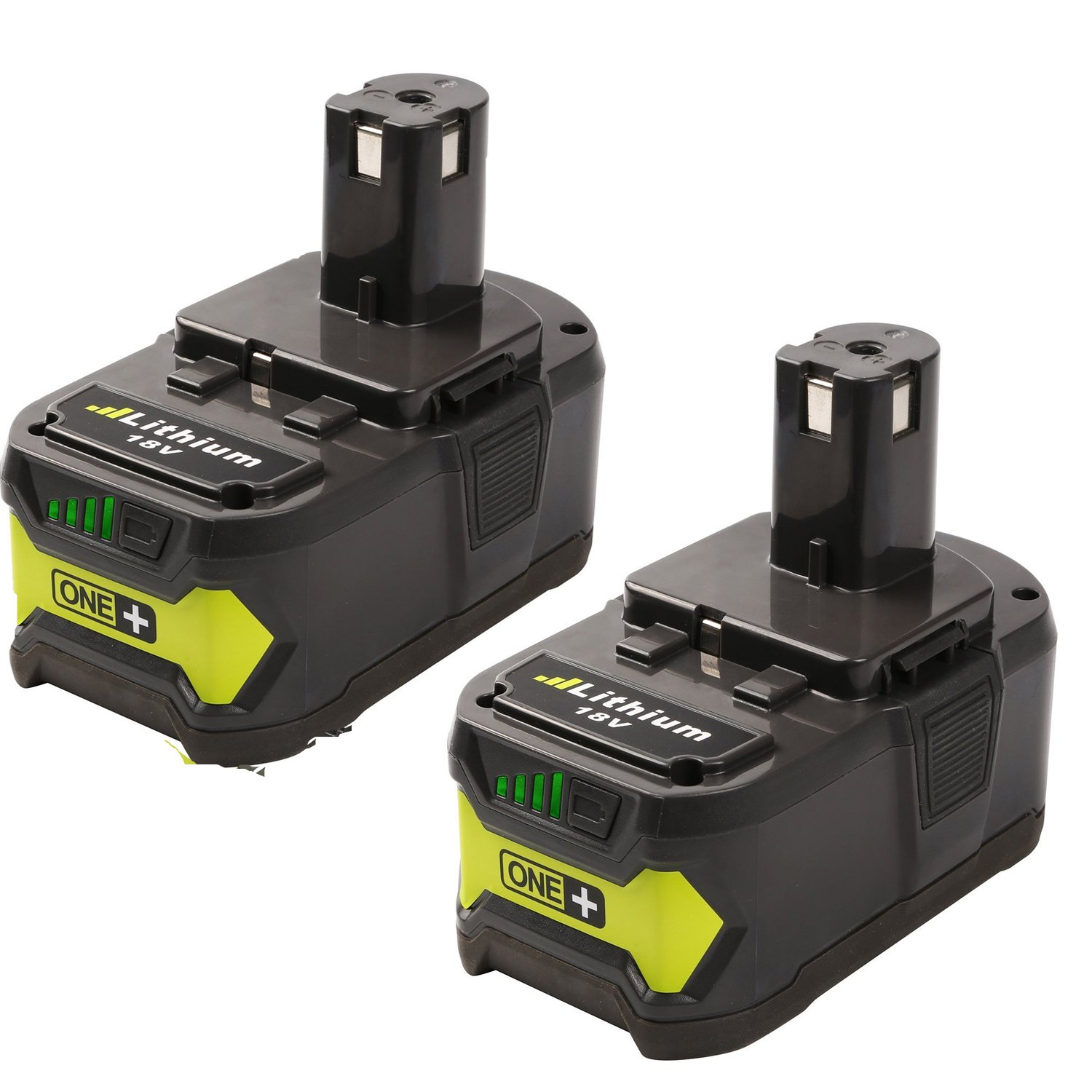 FUZADEL 2 Pack 18 volt Replacement Battery for Ryobi P122 P109 P107 One Plus 18v lithium Battery P108 P102