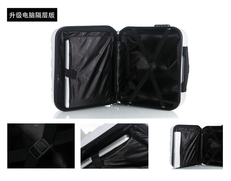 16 inch custom logo 4 wheel ABS trolley luggage for short travel