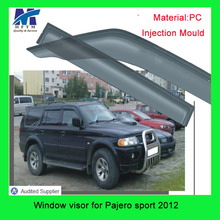 For Pajero sport 2012 Injection mold type auto parts 12 months warranty Window visor