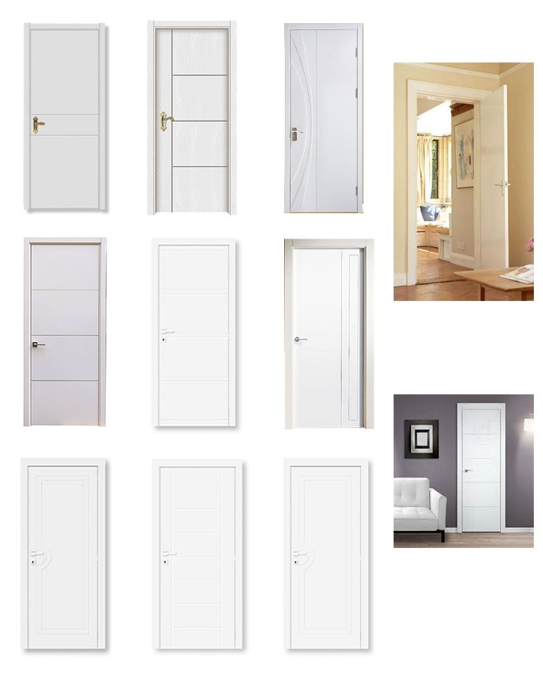 New design white hollow core mdf flush prefinish modern for Solid core mdf interior doors