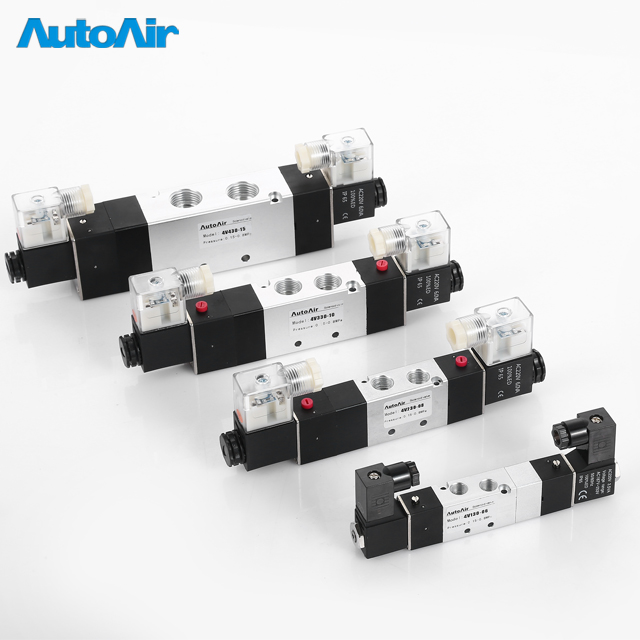 4V Series Wholesale Pneumatic Solenoid Valve Air Flow Control 12v Solenoid Valve Coil
