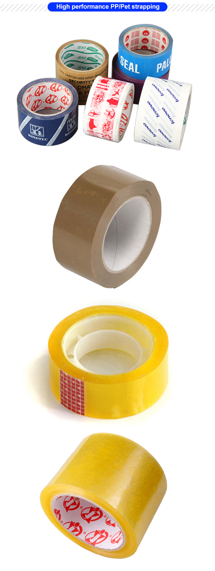 New waterproof bopp packaging adhesive stationery tape