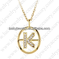letter k pendant necklaces
