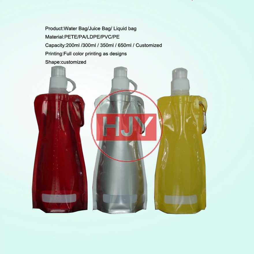 1L Spout Top Stand Up Water Purification Collapsible Bottle Emergency Kit Bag