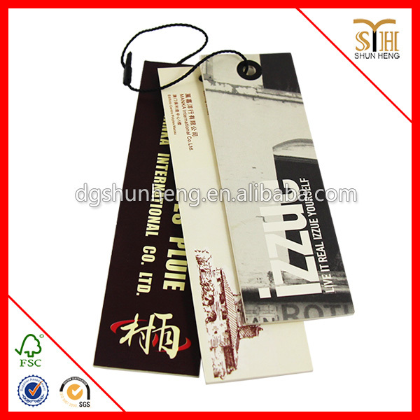 Different Shape Paper Garment Hang Tags/hang Tag With String ...