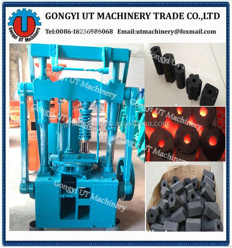 Cylinder & Hollow Type Honeycomb Coal Dust Briquette Press