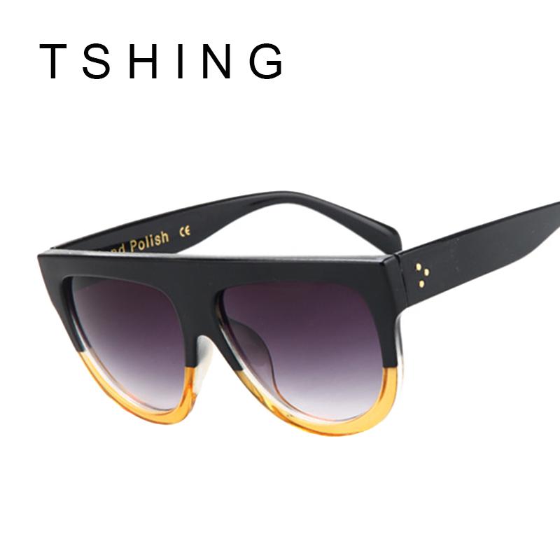 68dc255ac989 bitterrootpubliclibrary.org   Buy TSHING Fashion Sunglasses Brand Designer  Women Flat Top Vintage Sun glasses