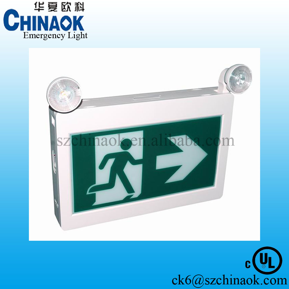 public places emergency lighting green running man hanging exit sign light