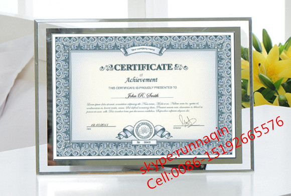 Glass A4 Certificate Poster Photo Picture Frame Wholesale For
