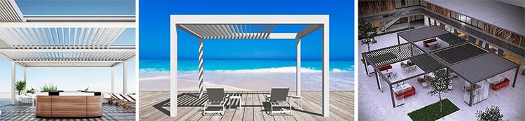 Best Choose Aluminium Outdoor Retractable Bioclimatic Pergola