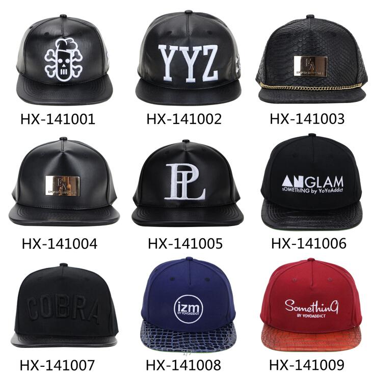Custom Leather Snapback/leather Hat/blank Leather Snapback ...