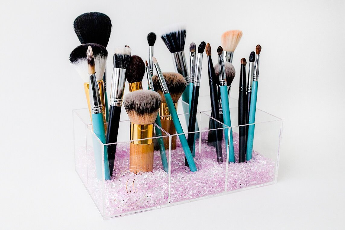 Bibbidy Bobbidy Beauty 6 Slot Makeup Brush Organizer, Bathroom organizer, Bathroom storage, Bathroom makeup organizer, Makeup brush organizer, Bathroom holder, Cosmetic holder,Makeup Holder,Acrylic