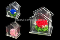 Customized acrylic home shape of decorations