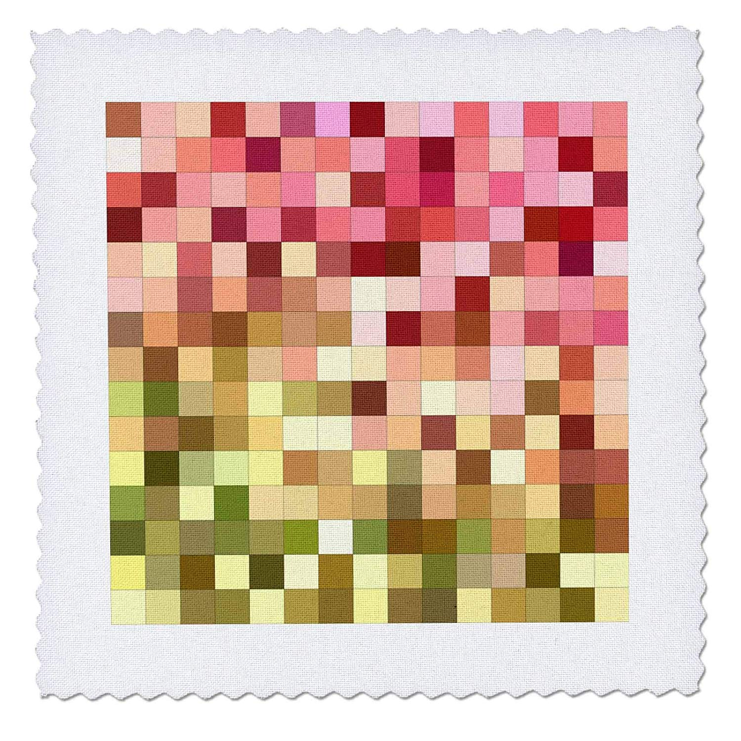 3D Rose Reen Swallowtail Butterfly Square Quilt 6 x 6