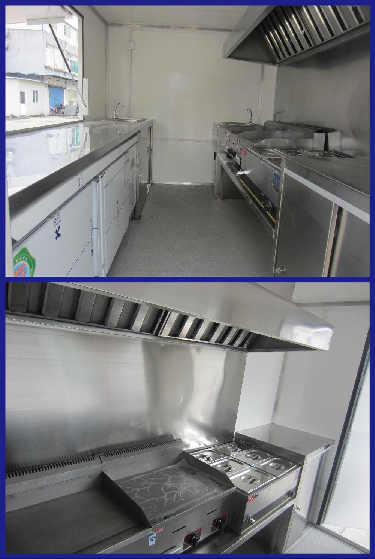 Mobile Kitchen Equipment Fv 78 New Model Catering Equipment Food Van Bike Fast Food Fast